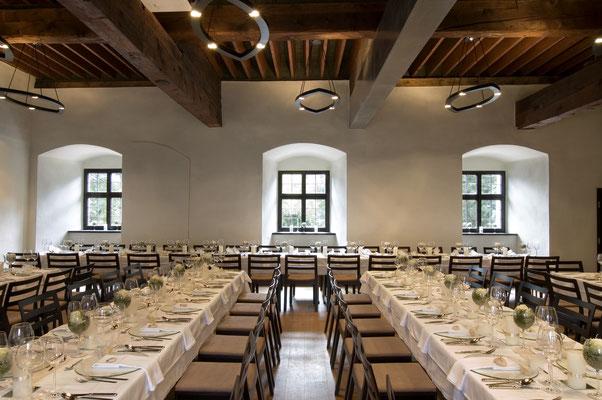 Tafel im Beheimsaal - Burg Hasegg - © Burg Hasegg / Münze Hall