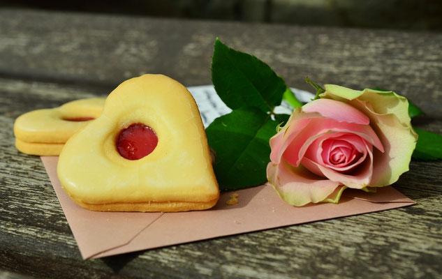 Romantische Keksherze