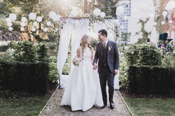 Das glückliche Brautpaar auf Schloss Ernegg
