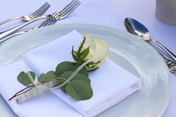 Rose als Gastgeschenk
