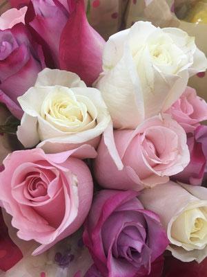 Brautstrauß: Rosa, Flieder und Violett