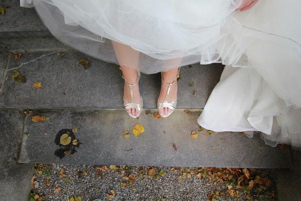 Riemchen-Brautschuhe