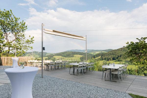 Terrasse Refugium Hochstrass - © Barbara Wenz Photografie