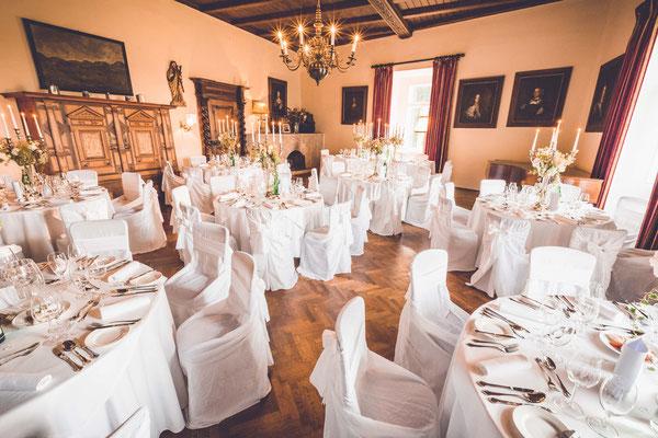 Hochzeitstafel im Schloss Ernegg - © Inshot