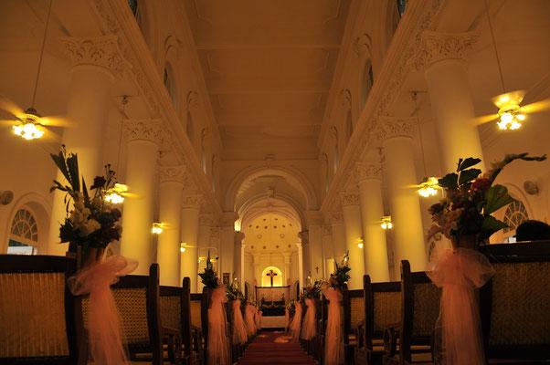 Geschmückte Hochzeitskirche