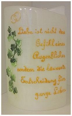 Kerze nach Wunsch im Hochzeitsshop www.derhochzeitsshop.at anfertigen lassen!
