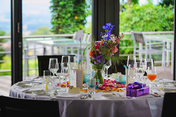 Runde Tische mit Tischnamen