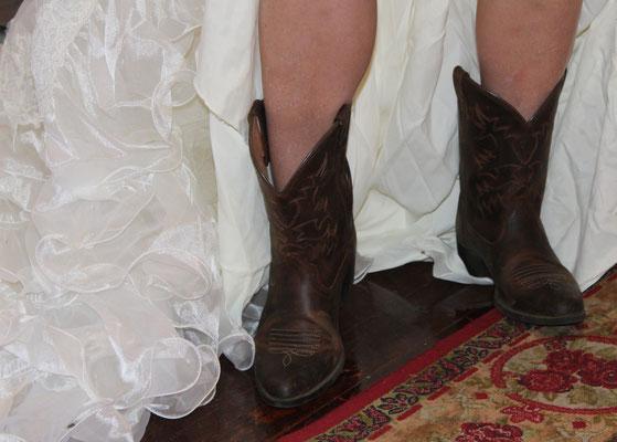 Cowoy-Boots für den Squaredance-Hochzeitstanz
