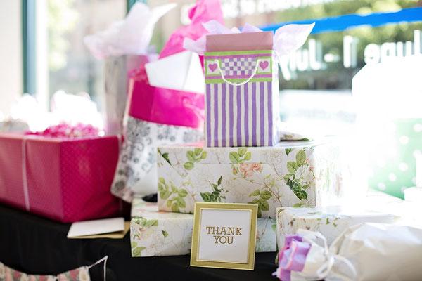 Viele Geschenke für das Brautpaar