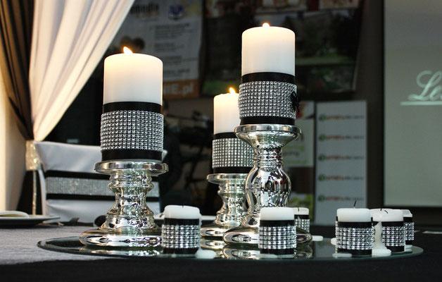 Hochzeitsfarbe Schwarz-Silber