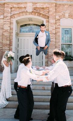 Hochzeitsfoto mit Groomsmen