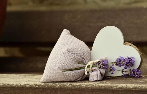 Lavendelsäckchen mit Herz