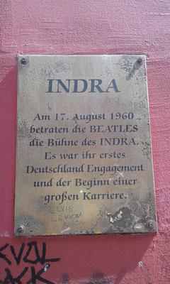 Beatles Gedenktafel am INDRA Musikclub in der Großen Freiheit 64 Hamburg St. Pauli