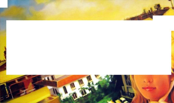<b>CMYK 1</b><br />2006<br />Acryl auf Baumwolle<br />175 x 100 cm