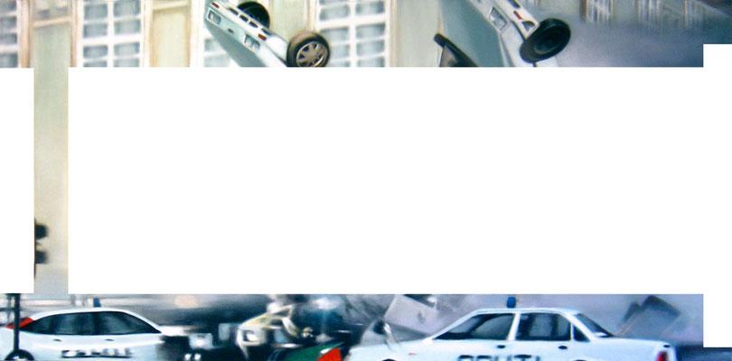 <b>Verkürzt II</b><br />2005<br />Acryl auf Baumwolle<br />250 x 125 cm