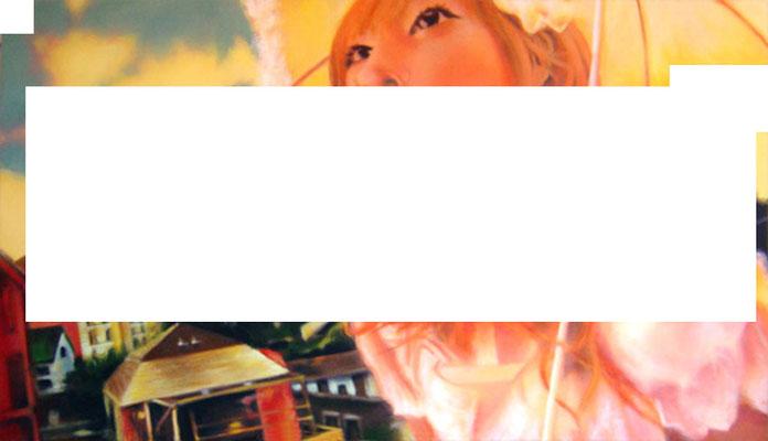 <b>CMYK 2</b><br />2006<br />Acryl auf Baumwolle<br />175 x 100 cm