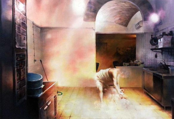 <b>Immerdar ringt Ihr in mir</b><br />2012<br />Acryl auf Baumwolle<br />150 x 100 cm