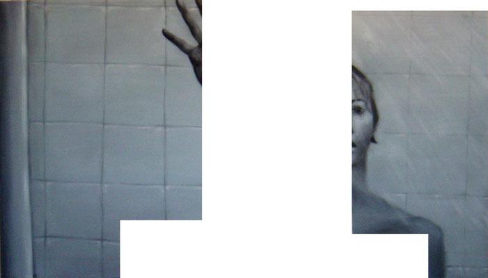 <b>Ausserordentlich allein II</b><br />Acryl auf Baumwolle<br />175 x 100 cm