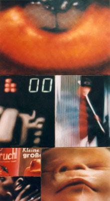 <b>View I</b><br />2000<br />Acryl auf Baumwolle<br />140 x 80 cm
