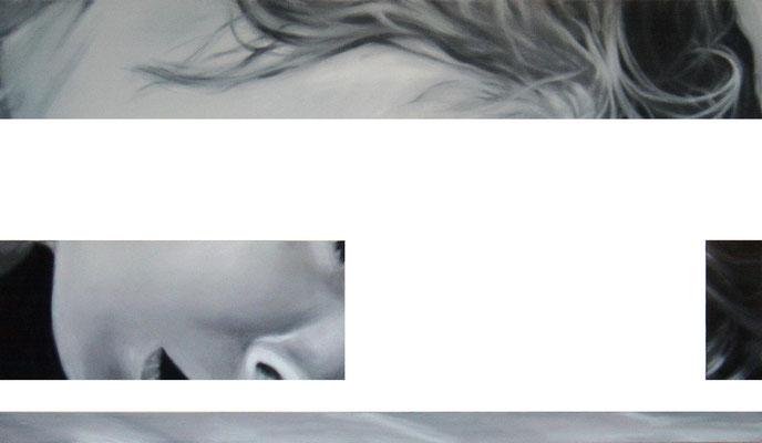 <b>Ausserordentlich allein IV</b><br />2005<br />Acryl auf Baumwolle<br />172 x 100 cm