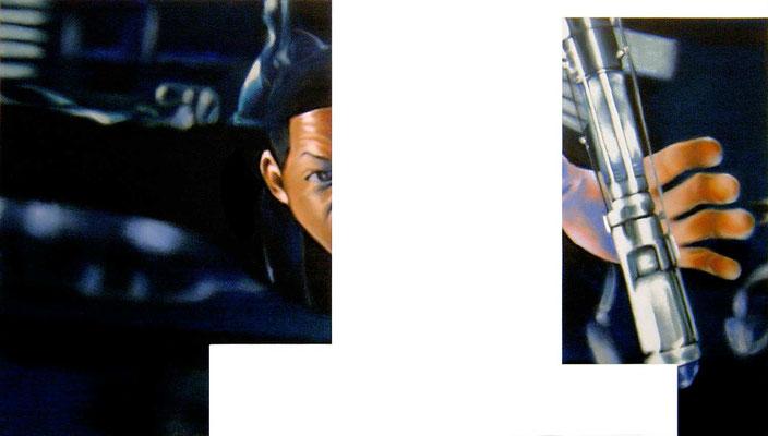 <b>Ausserordentlich allein IV</b><br />2005<br />Acryl auf Baumwolle<br />180 x 100 cm