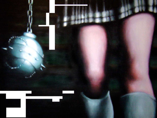 <b>Pulp 1</b><br />2004<br />Acryl auf Baumwolle<br />146 x 108 cm