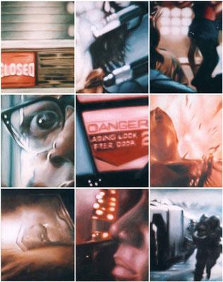<b>Ohne Titel</b><br />1999<br />Acryl auf Baumwolle<br />150 x 120 cm