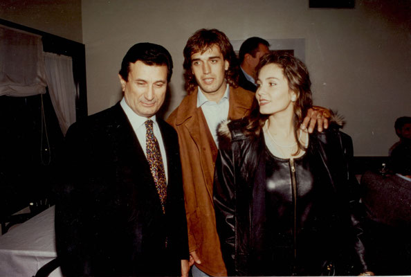 Armando Casodi con Gabriel Batistuta