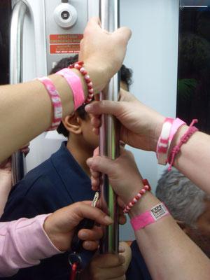 Armbänder in pink