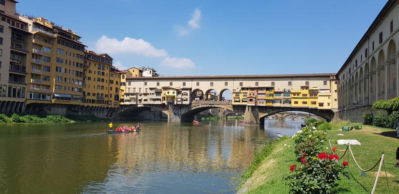 Training unter der Ponte Vecchio