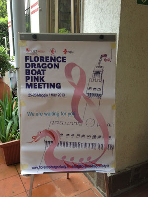 Pink paddler Regatta in Florenz 2013