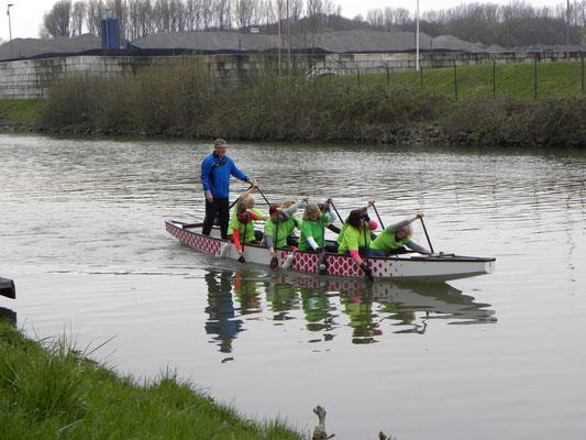 Erstes Training im eigenem Boot