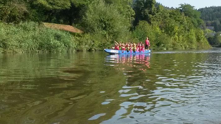 Pinke Wanderfahrt auf der Saarschleife - September 2016
