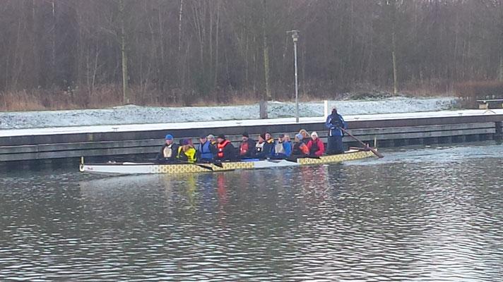 """Glühweinpaddeln mit den """"Löwen"""" im Januar 2016"""