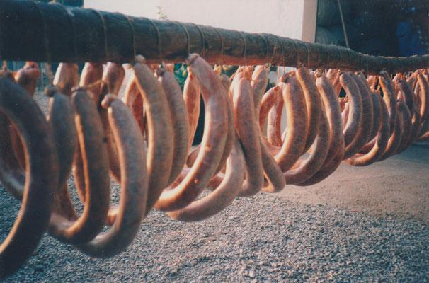 Traditionelle spanische Wurstsorten vom Schwein