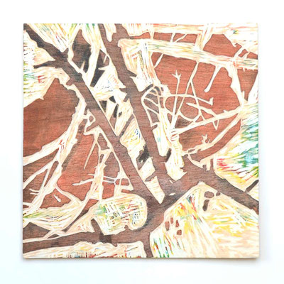 Druckplatte Holzschnitt