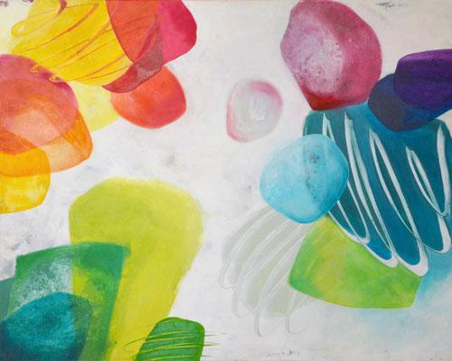 Acrylbild abstrakt 100 x 80
