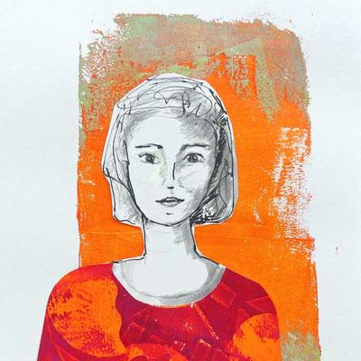 Zeichnung und Collage