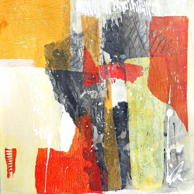 Mixed Media, Collage auf Papier