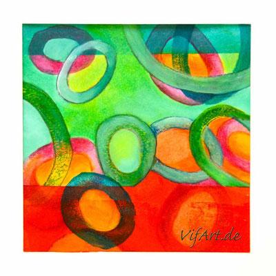 Papier, Acryl- und Ölfarbe