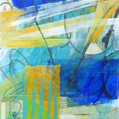 Collage auf Acrylarbeit