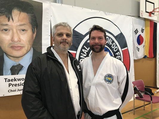 International Instructor Michael Kugele mit Grandmaster Trevor Nicholls