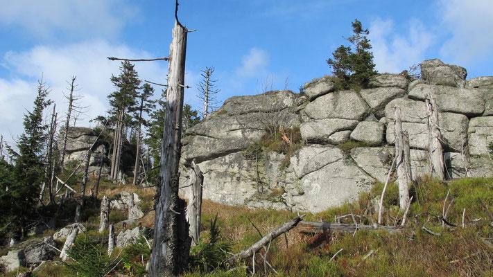 Felsformationen am Hochgfeichtetstein