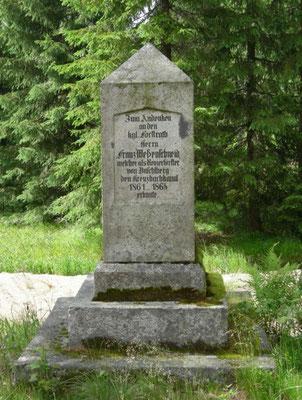 Gedenkstein für Franz Weßenschneid