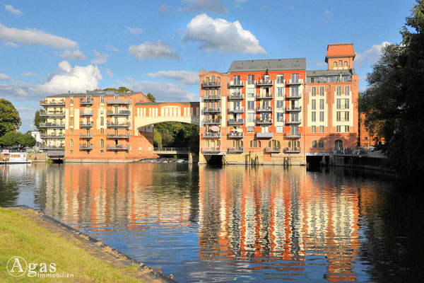 Immobilienmakler Brandenburg (Havel) - Wohnen am Domstreng, direkt am Wasser