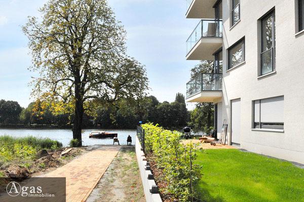 Wohnquartier UFERKRONE Köpenick, Weg zum Wasser