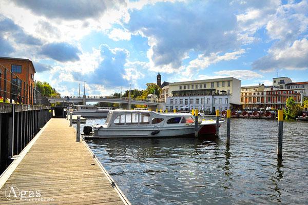 """Brandenburg (Havel) - Bootssteg an der """"Werft"""""""
