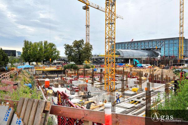 Humboldthafen Berlin - Baustellenimpression am Berliner Hauptbahnhof