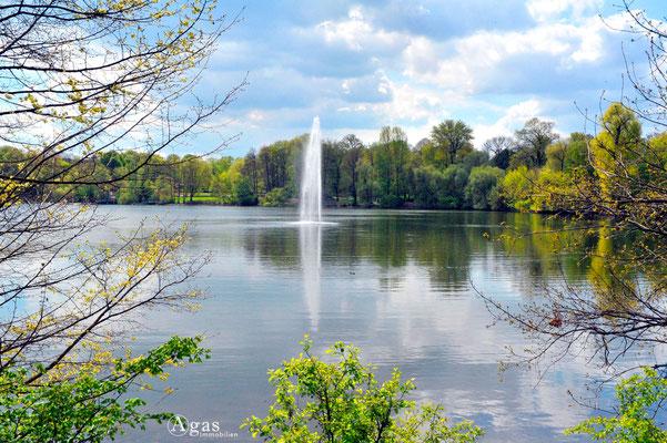 Berlin-Weißensee - Weißer See, Fontäne