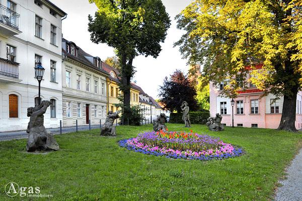 Brandenburg (Havel) - Die schöne Galatea und die Tritonengruppe. Platz vor dem Dom für die Brunnenfiguren von Gian Lorenzo Bernini.